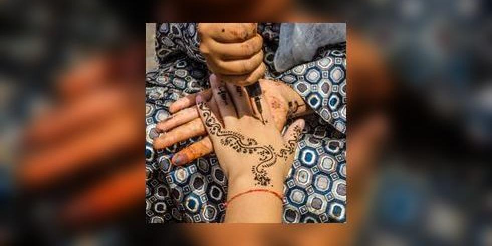 zwarte henna tatoeage op vakantie eczeem allergische